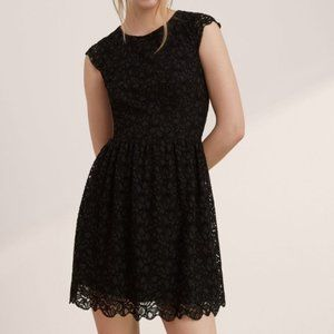 Aritzia Talula Belgravia Black Lace Mini Dress